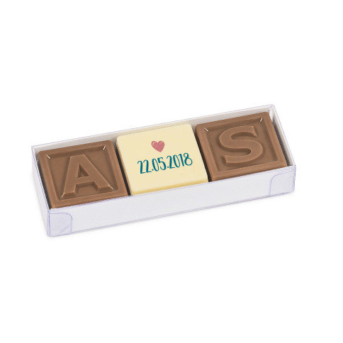 Choco Prints Trio Mini with Letters